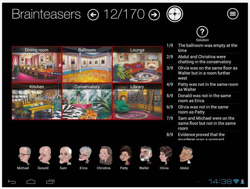Detective Game App - Murder Mystery Brainteasers - for iPad and Android