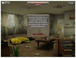 Crime Line A Novel Murder Screenshot - Collect the Evidence