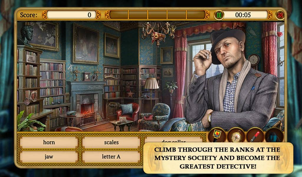 New Hidden Object Mystery Game - Climb the Detective Ranks in Mystery Society