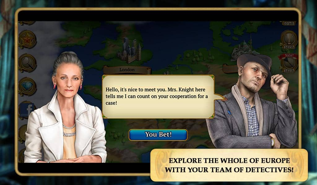 New Hidden Object Mystery Game for Kindle Fire, iOS & Android - Explore Europe with your Team of Detectives