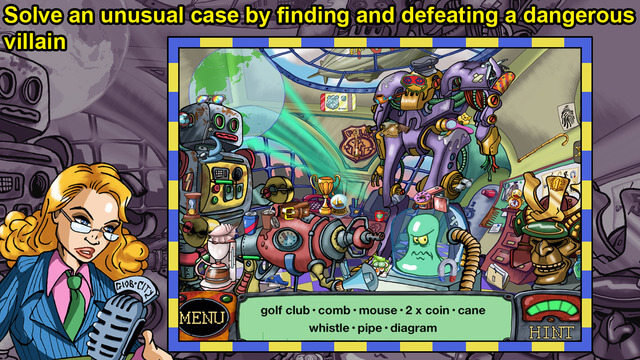 Free Detective Hidden Object Games - Detective Sherlock Pug and the Case of the Skindiver