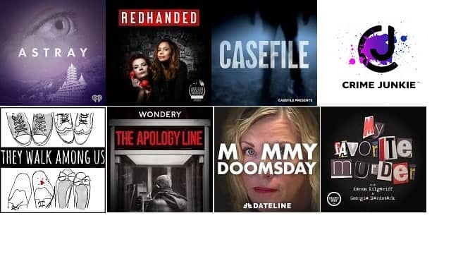 Top 10 UK True Crime Podcasts on Apple 8 March 2021